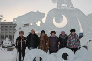 Открытие новогоднего городка Ленинского района